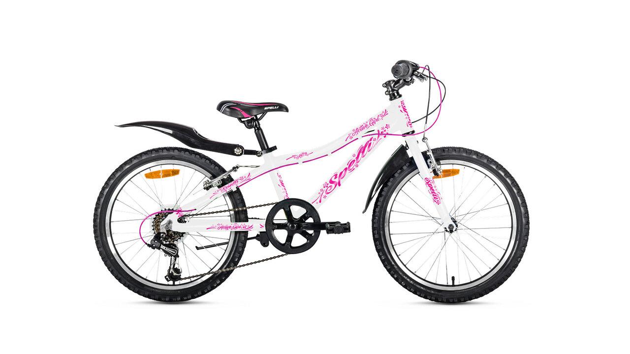 """Велосипед Spelli ACTIVE GIRL 20"""" бело розовая"""